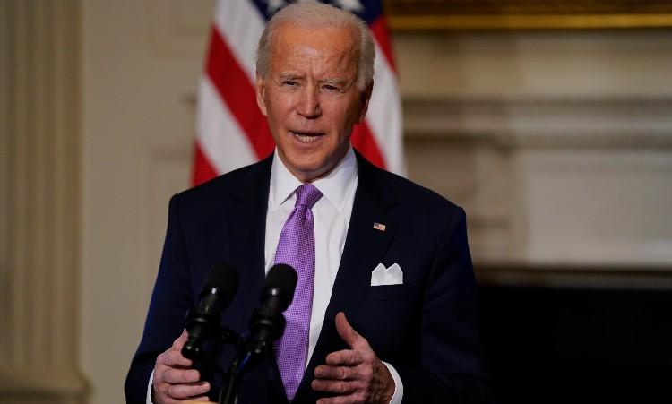 President Biden giving a speech about the holocaust