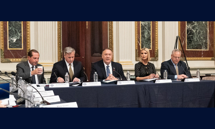 Meeting of the President's Interagency Task Force to Monitor and Combat Trafficking in Persons October 19, 2020 Press Statement Michael R. Pompeo, Secretary of State Today, I was honored to convene the Trump Administration's third meeting of the President's Interagency Task Force to Monitor and Combat Trafficking in Persons, a cabinet-level entity that consists of 20 agencies across the federal government responsible for coordinating U.S. efforts to combat all forms of human trafficking. I was joined by Deputy Secretary Biegun and Advisor to the President Ivanka Trump. Task Force members underscored the Administration's strong commitment to combating human trafficking, commemorated the 20th anniversary of the Trafficking Victims Protection Act of 2000, pledged to build on 20 years of progress in the anti-trafficking movement, and discussed key State Department initiatives. This year's Presidential Award for Extraordinary Efforts to Combat Trafficking in Persons was presented to A21 North Carolina for its work to reduce vulnerability and provide essential aftercare services to survivors, and to the Navajo Nation for its leadership in preventing and combating human trafficking in Native communities. Our civil society partners have reported that residential shelters have cut back services, governments have redirected resources to COVID-19 responses, borders have closed, economies have slowed dramatically, and traffickers have exploited COVID-19 restrictions to profit even more from sex and labor trafficking. In response to the impact of COVID-19 on efforts to combat human trafficking around the world, the State Department announced earlier this year, a year-long open competition for proposed projects to address this impact and to support government responses. In the coming months, this initiative will provide up to $3.5 million in foreign assistance funds to support organizations operating in rapidly changing environments and facing the short- and long-term impacts of 